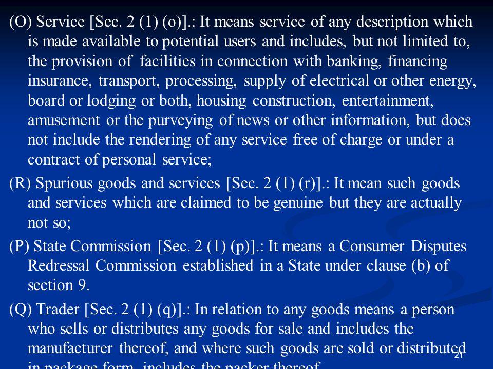 (O) Service [Sec. 2 (1) (o)]